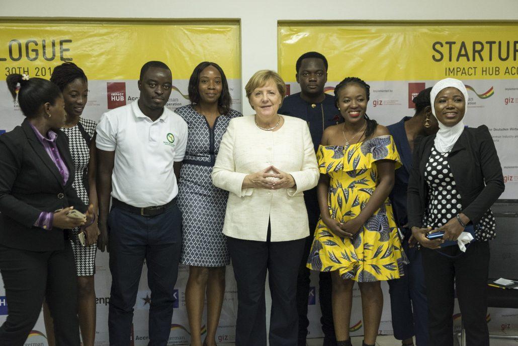 Merkel at IMPACT HUB